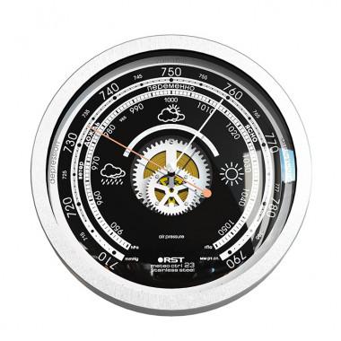 Барометр RST07823 meteo ctr stainless steel. Открытый механизм