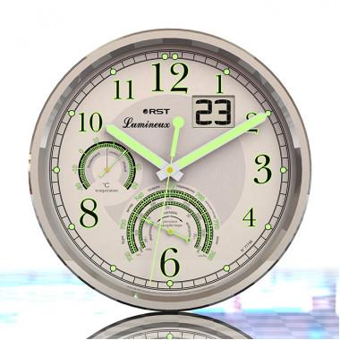 Настенные часы - метеостанция RST Lumineux 77746